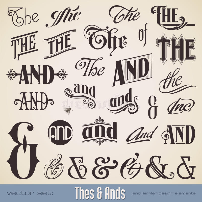 Thes and Ands. Ornate thes & ands - perfect for headlines, signs or similar graphic projects