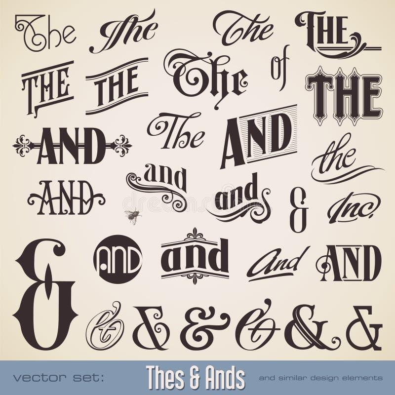 Thes et Ands illustration de vecteur