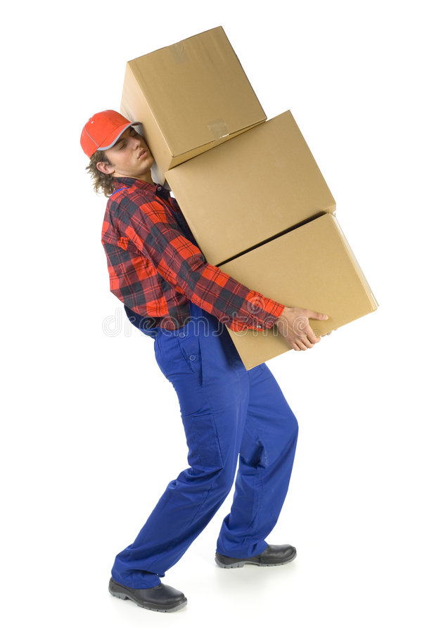 Free These Boxes Are So Heavy Stock Photo - 3463420