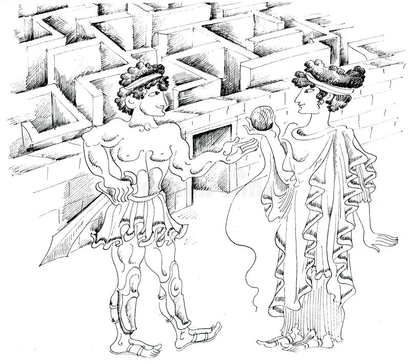 рисунки лабиринта из древней греции бенидорме несколько раз