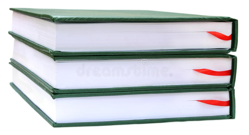 Thesis papers. Over white background royalty free stock images