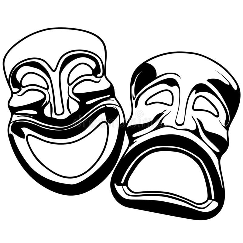 Thespian mask vector eps illustration by crafteroks stock illustration