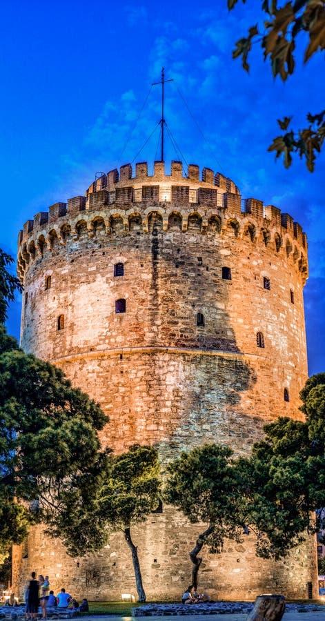 Thessaloniki к ноча, Греция стоковое фото rf