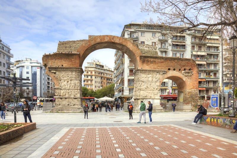 Thessaloniki båge av Galerius royaltyfri foto