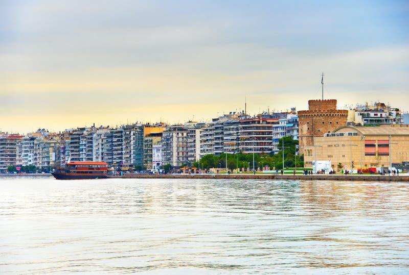 Thessaloniki cityscape, Griekenland stock afbeeldingen