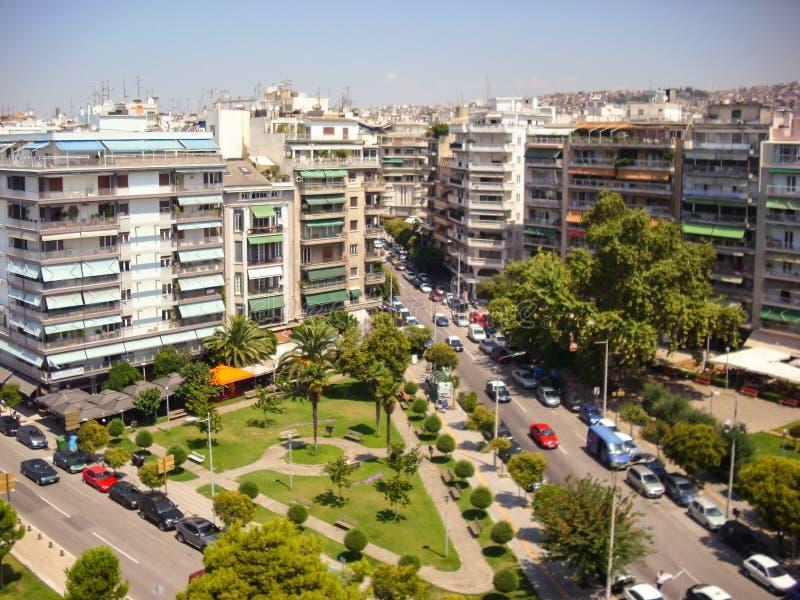 Thessaloniki, Greece - June 07 2014 : cityscape - apartments blocks in Thessaloniki City, Greece. royalty free stock photo