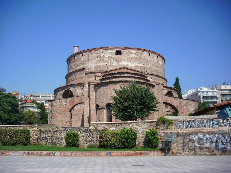 Thessaloniki, Greece - June 07 2014 : Rotunda of Galerius also known as Agios Georgios is the oldest monument in Thessaloniki City. Greece royalty free stock photography