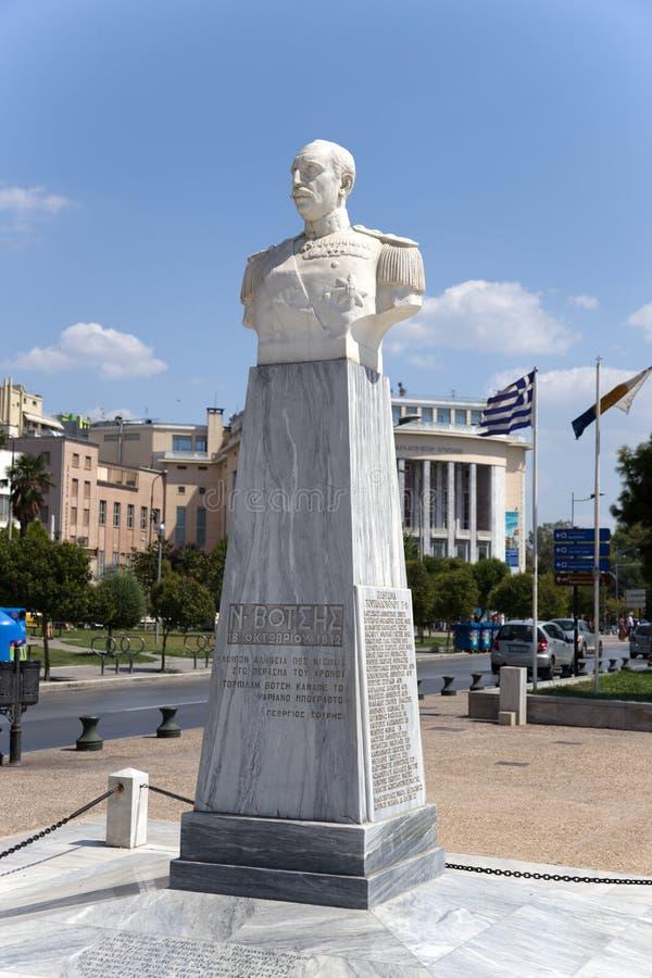 Thessaloniki, Greece. A marble bust of Nikolaos Votsis (1934) stock images