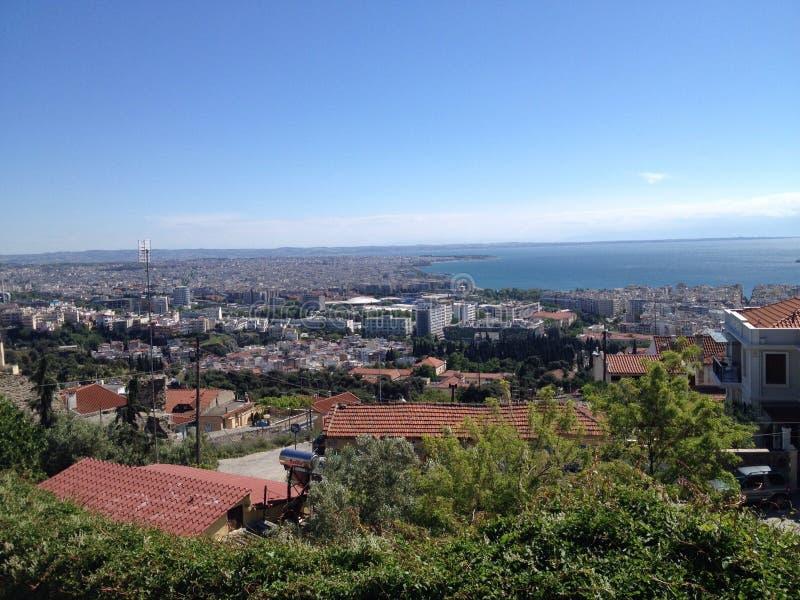Thessaloniki Grekland sikt royaltyfria bilder