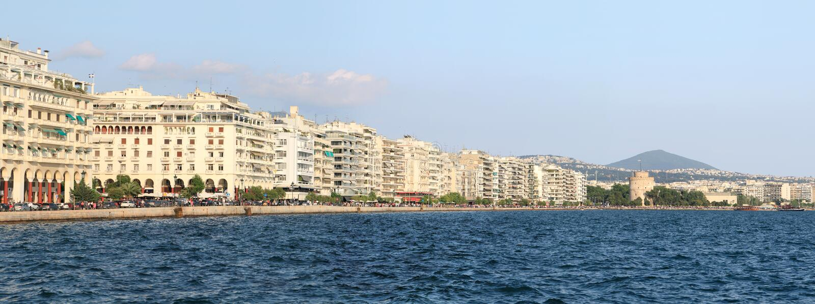 Thessaloniki (Griekenland) panorama royalty-vrije stock foto