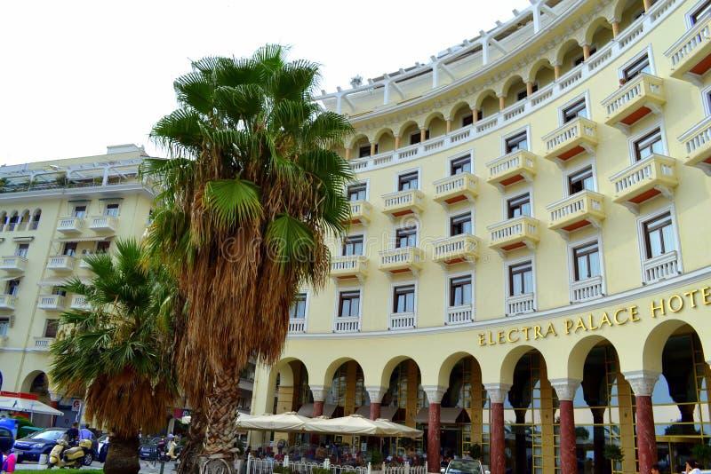 Thessaloniki hotell fotografering för bildbyråer