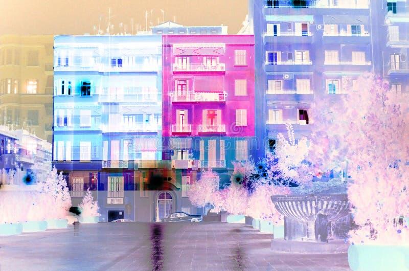 Thessaloniki i färger royaltyfri fotografi