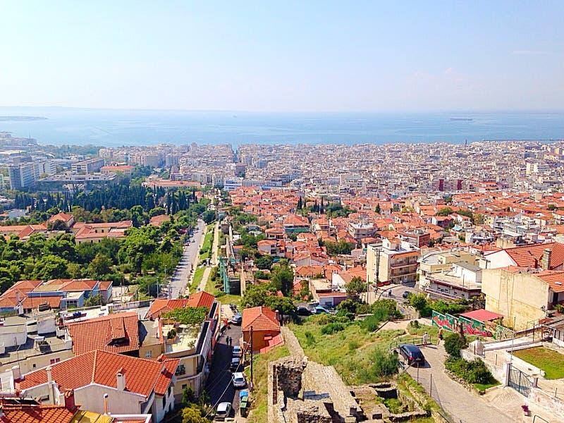 Thessaloniki landskap royaltyfri bild