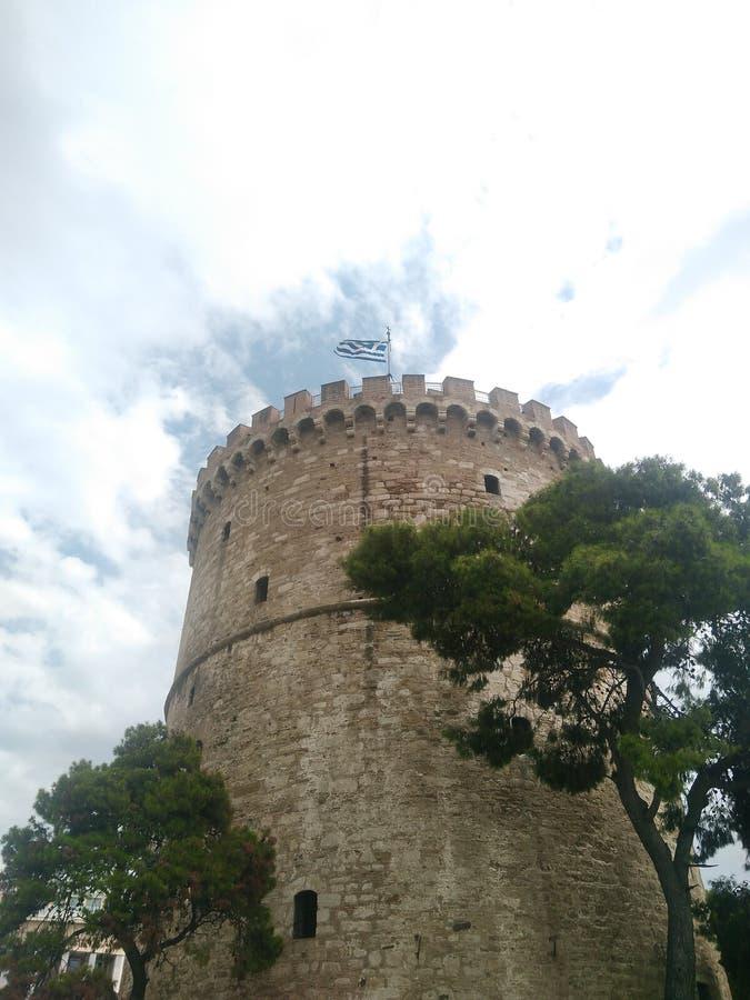 thessaloniki tornwhite fotografering för bildbyråer
