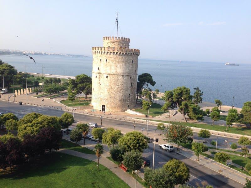 thessaloniki tornwhite royaltyfri foto