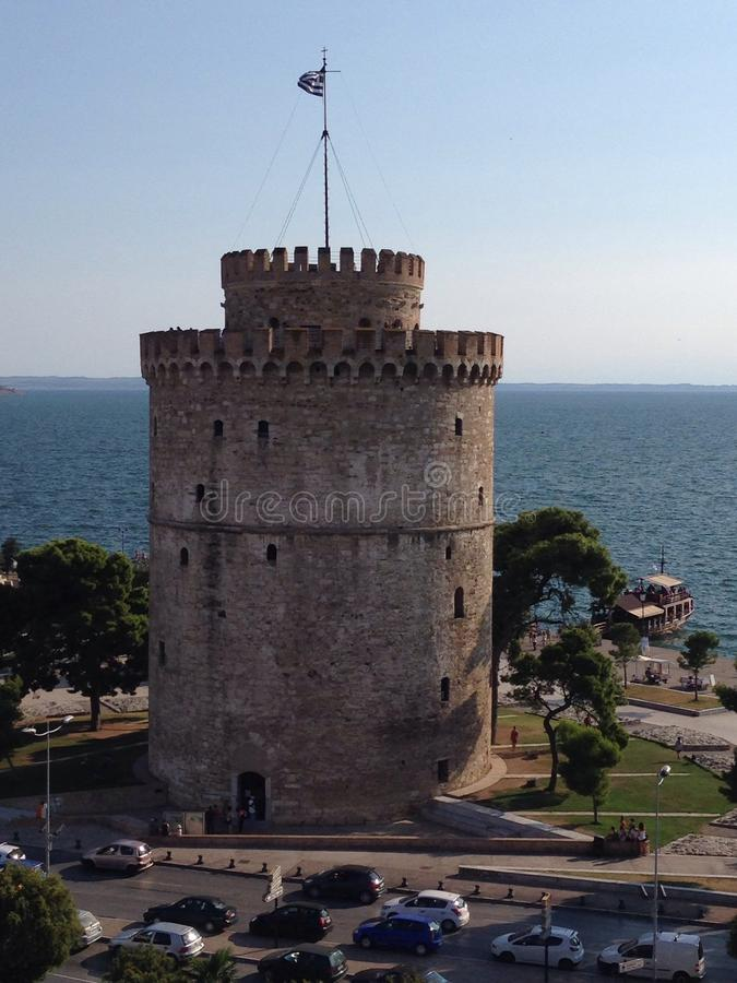 thessaloniki tornwhite arkivfoto