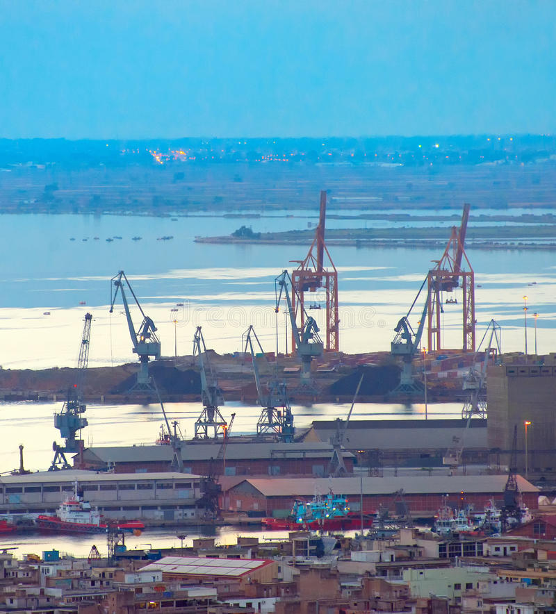 Thessaloniki verschepende haven Griekenland stock foto