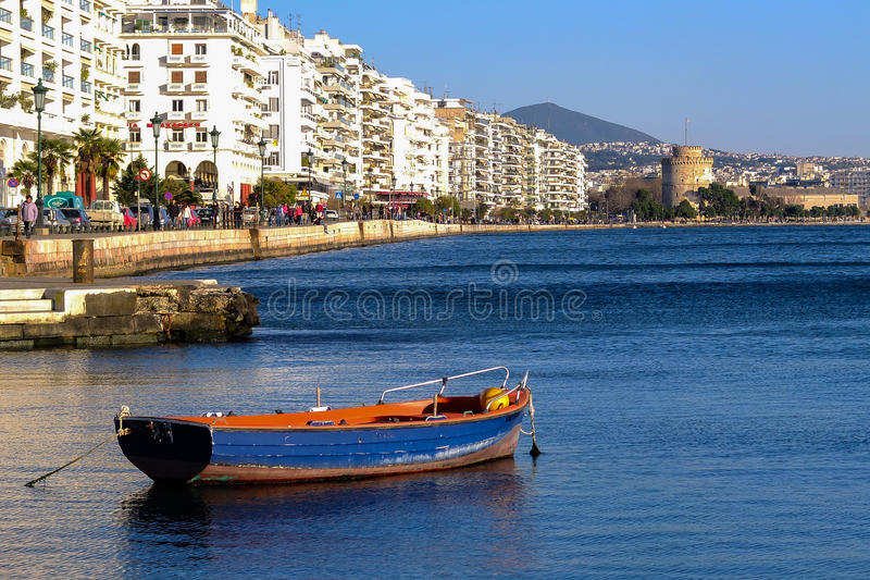 Thessaloniki Waterkant royalty-vrije stock afbeeldingen