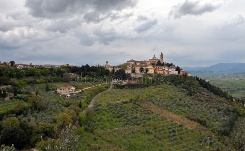 TheTown of Trevi, Umbria Italy royalty free stock photo