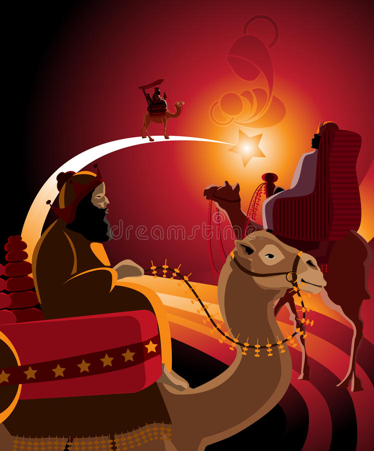 Download Thetravel of three kings stock vector. Image of jesus - 21214806