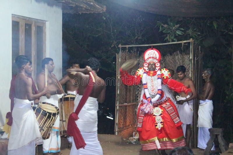 Theyyam fotografering för bildbyråer