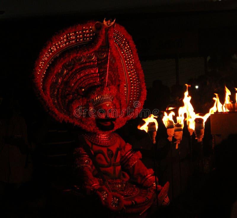 Theyyam royalty-vrije stock afbeeldingen