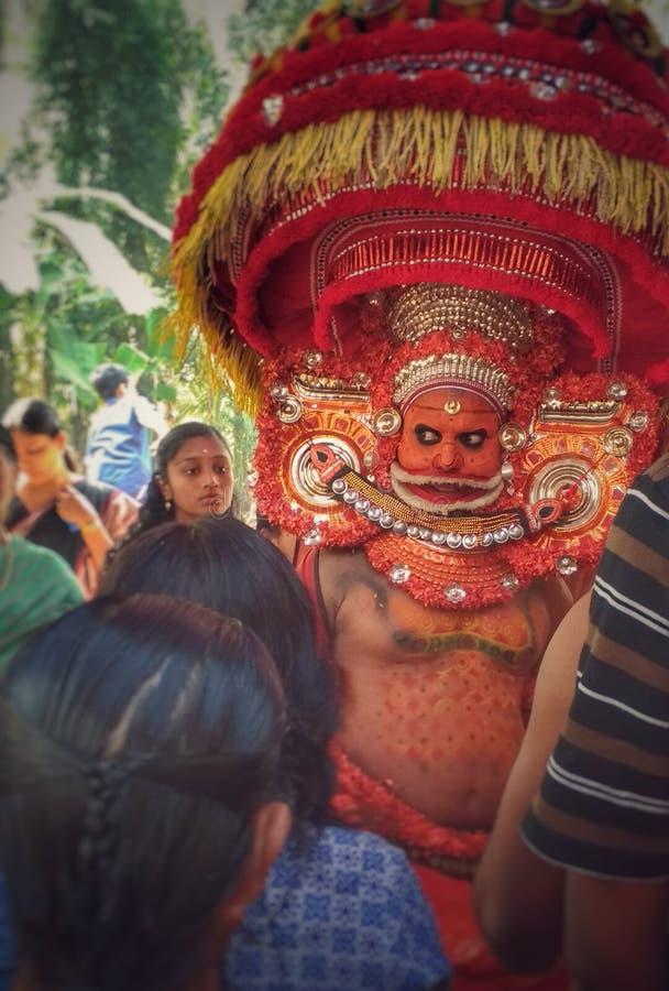 Theyyam royaltyfri fotografi