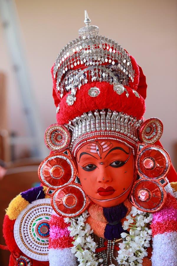 Theyyam_aadivedan lizenzfreie stockfotos