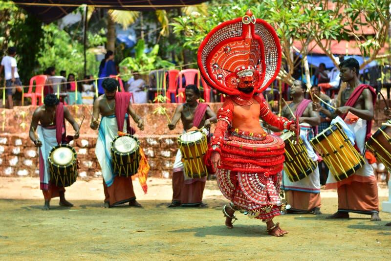 Theyyam de Kerala fotografía de archivo libre de regalías