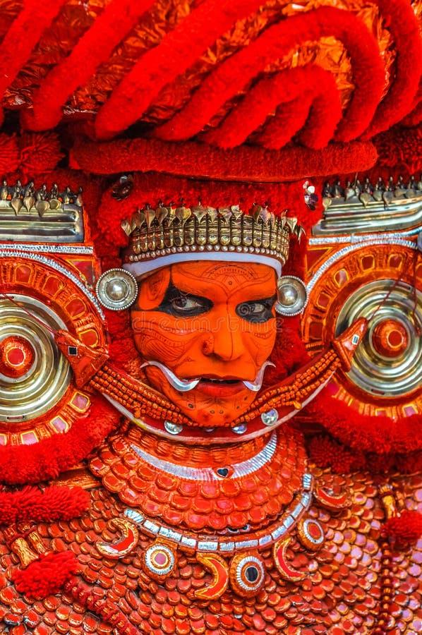 Theyyam en Kerala imagen de archivo