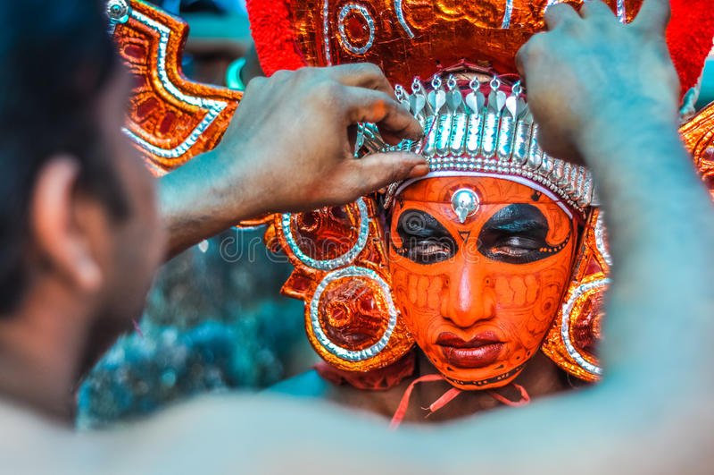 Theyyam en Thottada en Kerala fotografía de archivo libre de regalías