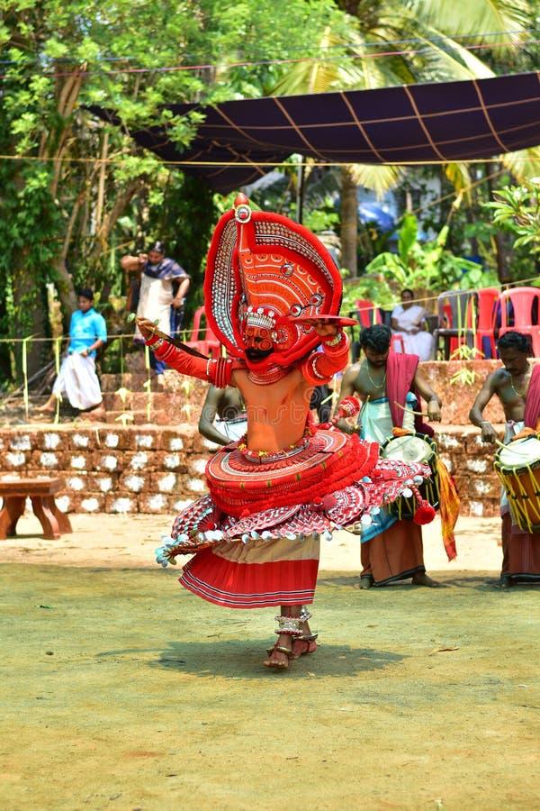 Theyyam kannur Κεράλα στοκ εικόνα