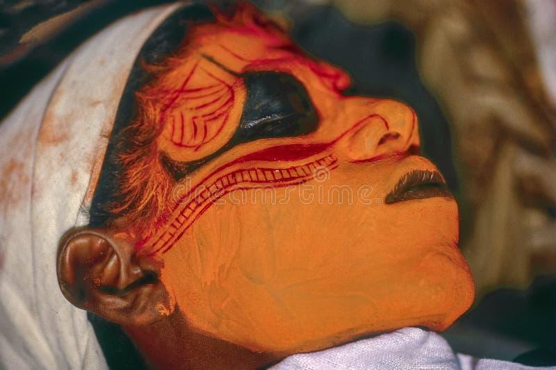 Theyyam Teyyam, Theyam, Theyyattam rituell form av dyrkan av norr Malabar royaltyfri foto