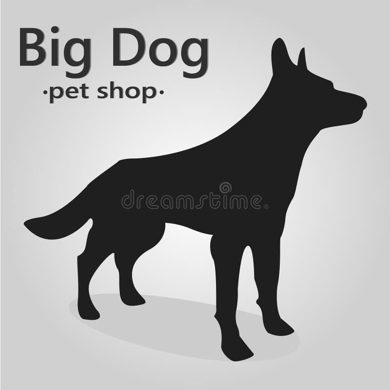 Thi är den stora svarta hunden royaltyfri bild