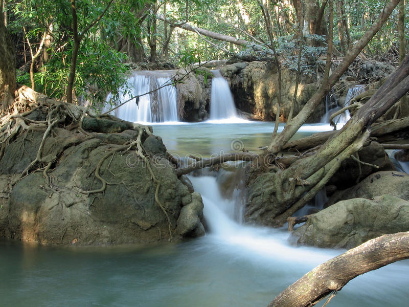Thi Lo Su Water Fall Tak, Thailand arkivbild