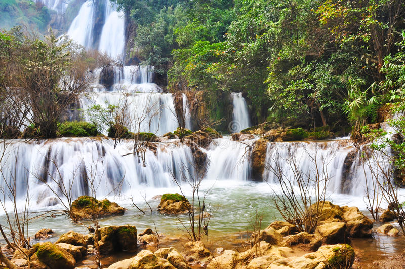 Thi Lo Su Waterfall Thailand Tak arkivfoto