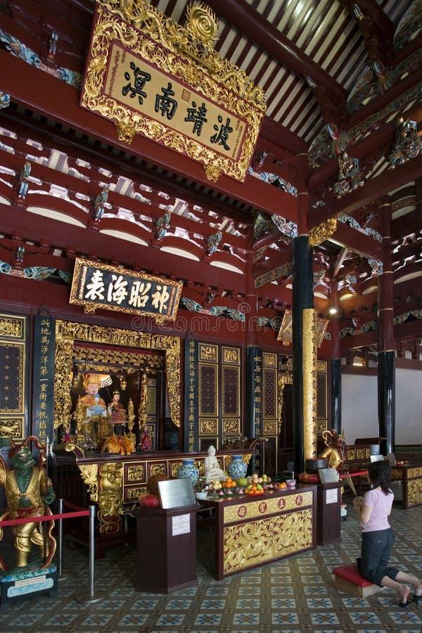 thian hockkengsingapore tempel royaltyfri foto