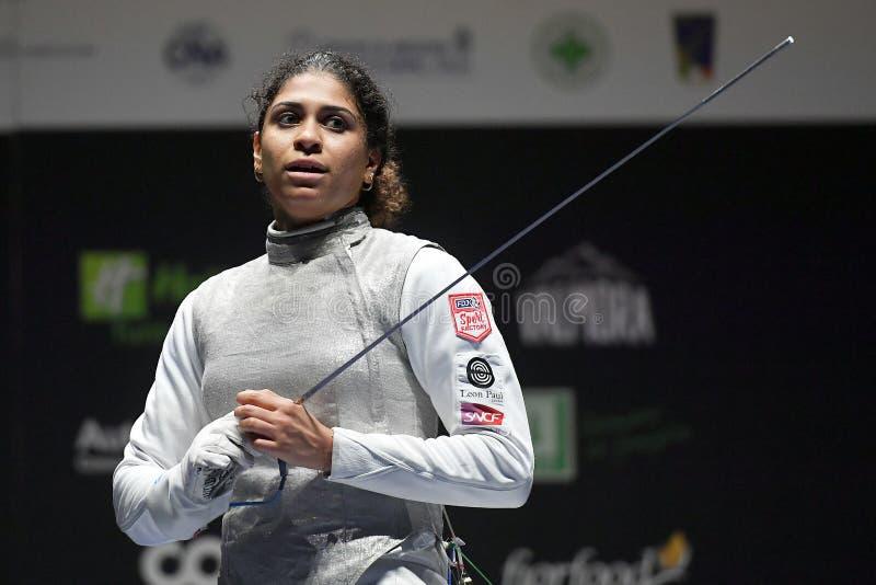 Sword FIE Fencing Grand Prix 2020 - Inalpi Trophy stock image