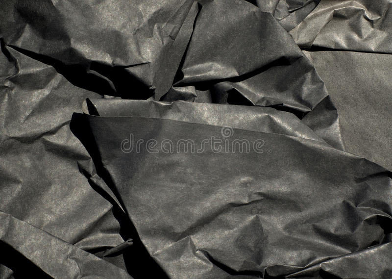 Download Thick Black Paper Crumpled stock image. Image of paper - 83705137