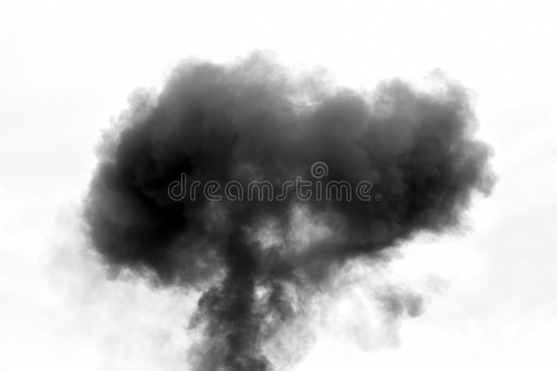 Thick black Smoke royalty free stock photography