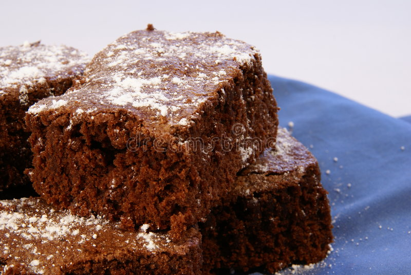 Thick Brownies royalty free stock images