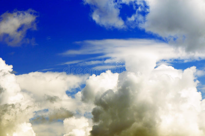 Thick Clouds Background Stock Image