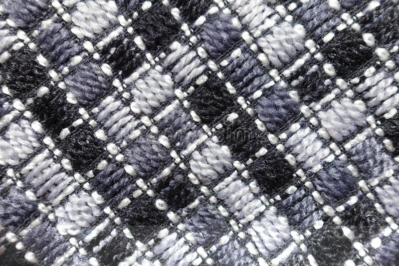 Thick fabric with diagonal stitches royalty free stock photography