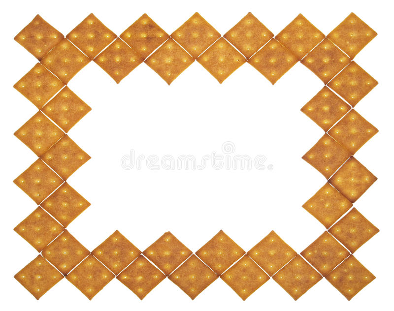 Thick frame of crackers stock photo
