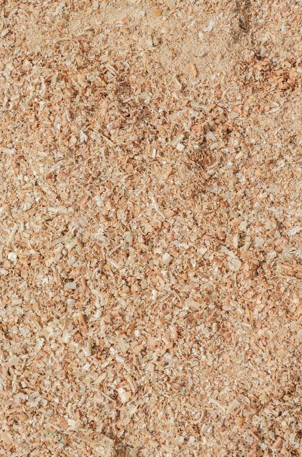 Thick layer Brown Wood Dust Texture stock photos