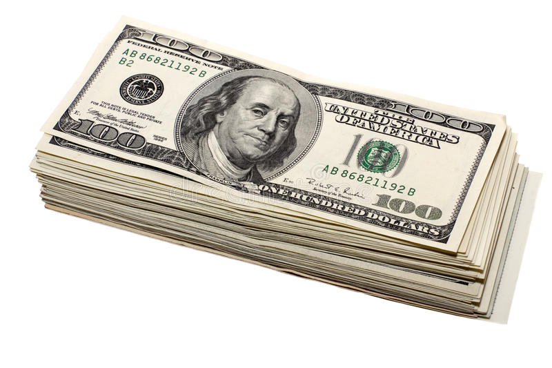 Download Thick Stack Of Hundred-dollar Stock Photo - Image: 14068510