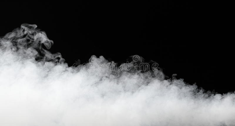 Thick stream of fog stock images