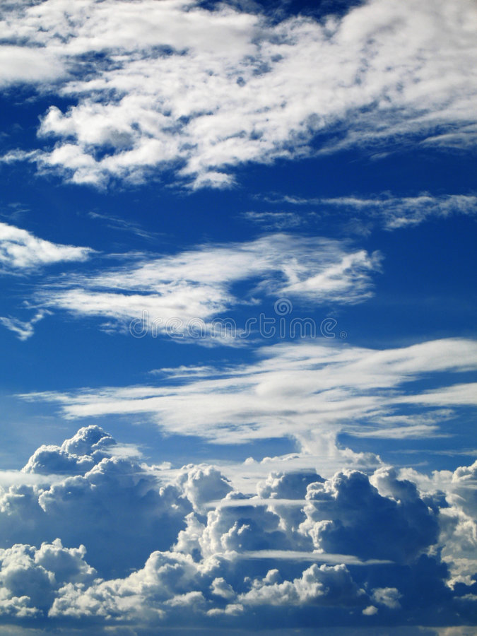 Thick White Fluffy Clouds. Philippines royalty free stock photo