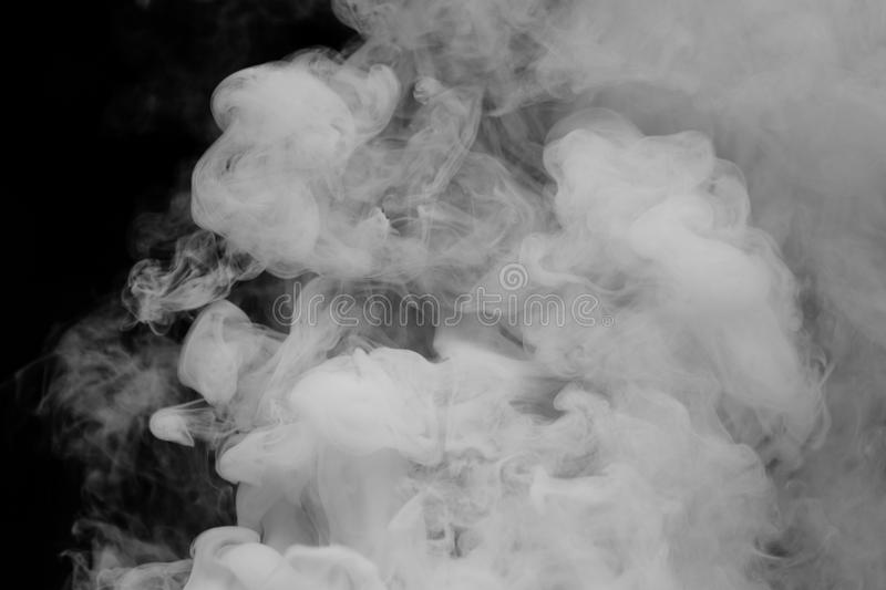 Thick White Smoke Floating. Through the air stock image