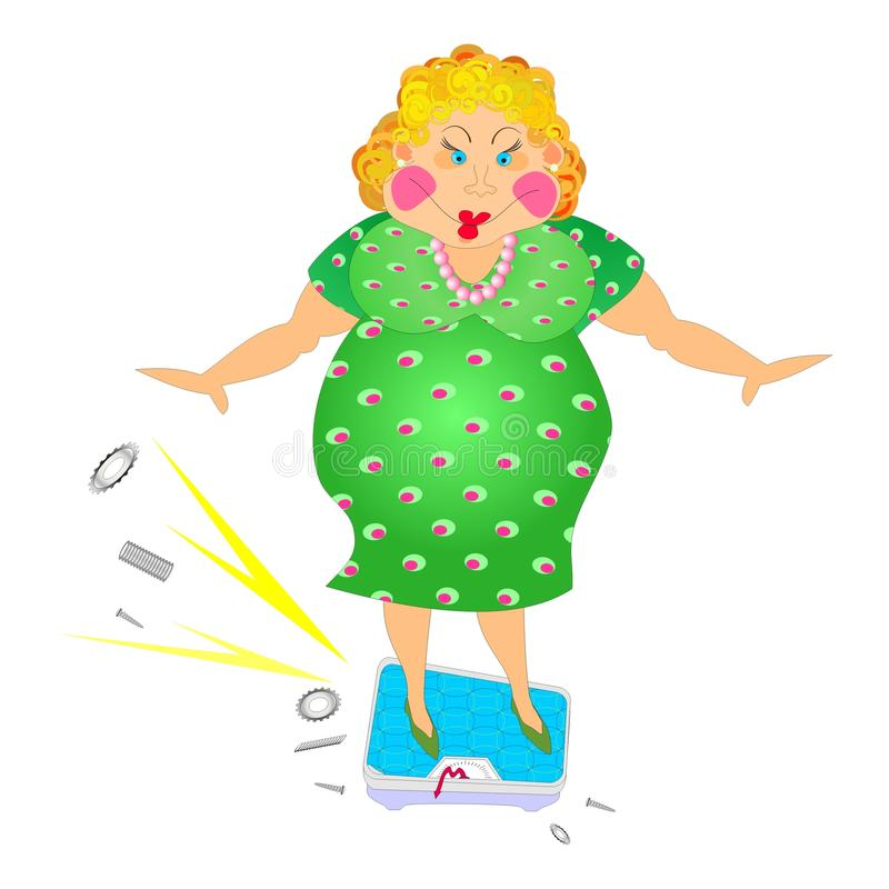 Download Thick woman stock vector. Image of well, diet, satisfaction - 15119859
